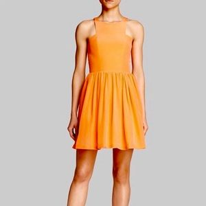 Amanda uprichard silk Elle orange dress NWT